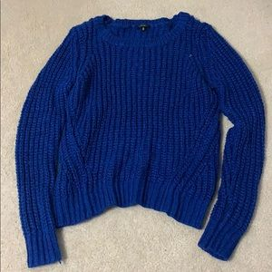Cobalt blue chunky sweater